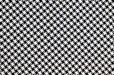 houndstooth: Black and White Cotton Texture, houndstooth pattern. Stock Photo