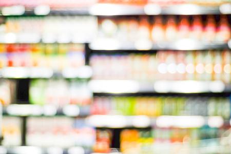 store shelf: Supermarket blur background with bokeh light ,Product shelf