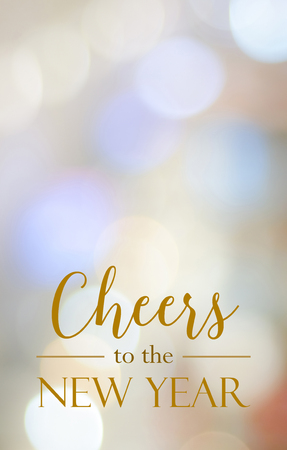 Cheers To The New Year On Blur Festive Bokeh Light Background ...