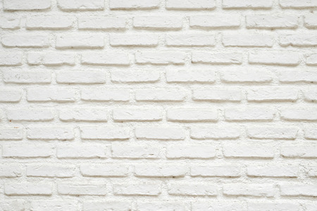 solid: White brick wall textured background, interior design background Stock Photo