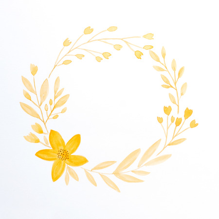 Hand drawing flowers in watercolor style on white paper background hand drawing flowers in watercolor style on white paper background autumn flowers wreath with copy mightylinksfo