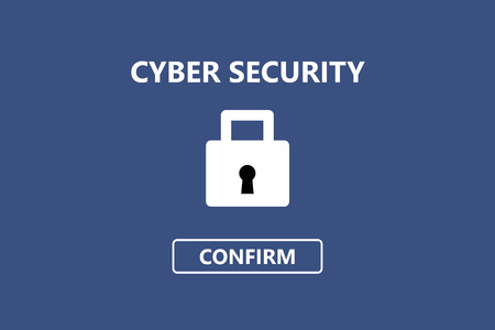 Cyber security banner background for computer, tablet, labtop and smartphone screen
