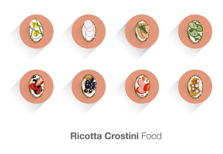 goat cheese: Ricotta Crostini italian food
