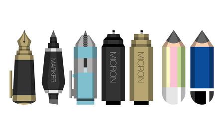 pen, pencil Stock Vector - 24552722
