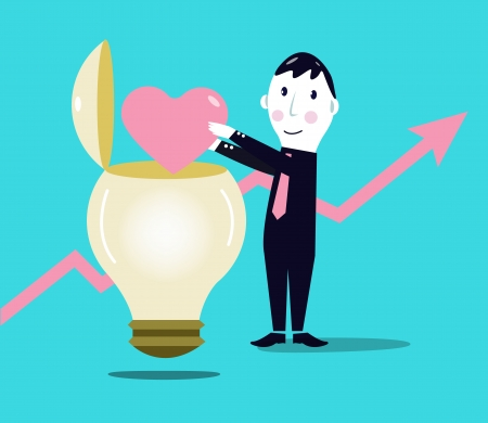 Business growth, Positive ideas Illustration