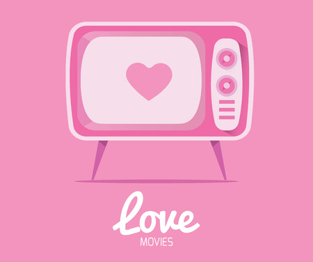 Love Movie from vintage television Illustration
