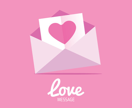 Love Message  Valentine Cards  Illustration