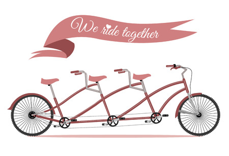 Triplet family bike   Vector