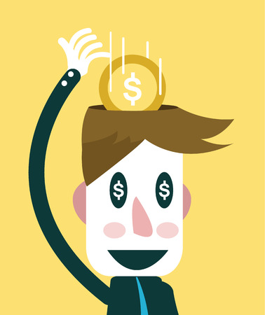 Businessman focusing in business target   Business concept Stock Vector - 27347819