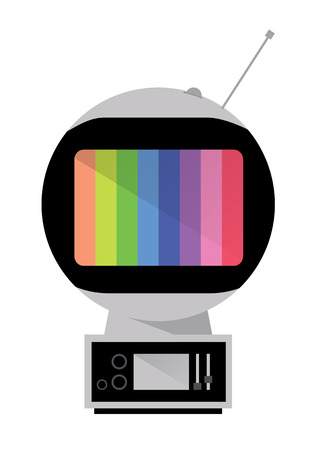 space age: Space Age TV  Retro Television  vector Illustration