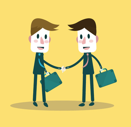 join hands: Business people partner handshake  vector illustration Illustration