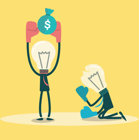 business competition: Ideas winner get money  Business competition concept  vector