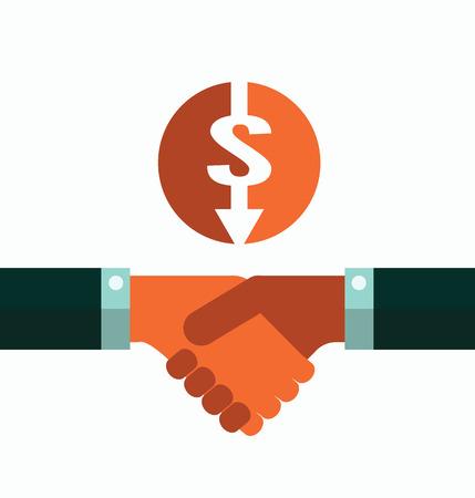Business Handshake  flat design element  flat design element  vector illustration