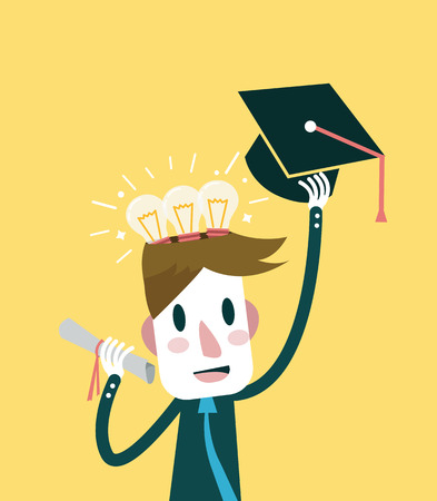 knowledge concept: Education and knowledge concept. flat design element. vector illustration