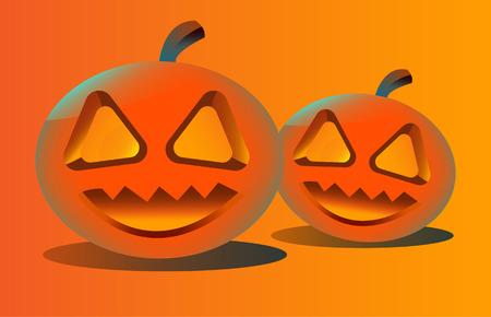 smilling: pumpkins for Halloween. vector illustration