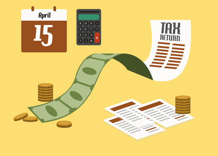 tax return: Tax return concept. flat design. vector illustration