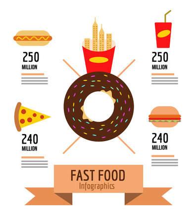 Fast food info graphic. flat design. vector illustration Vector
