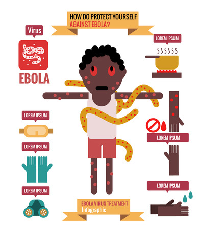 do not touch: Ebola prevention Infographics. flat design elements. vector. illustration
