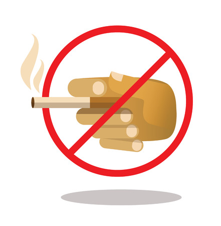 carcinogenic: No smoking sign. flat design element. vector illustration