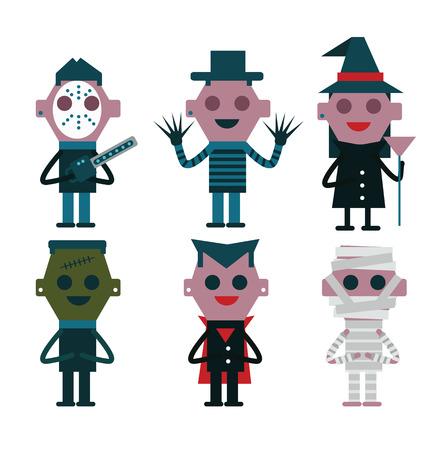 character design: Halloween character design. flat vector