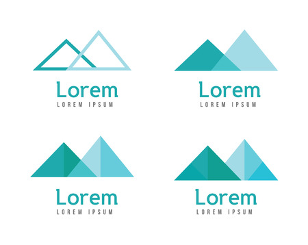 naming: Abstract mountains logos. flat design elements. vector