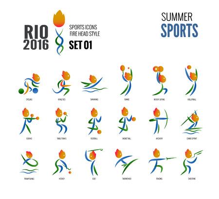 olimpic: Summer sports icons set 01. vector illustration