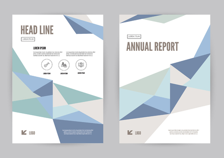 blue book: Blue annual report Leaflet Brochure Flyer template A4 size design, book cover layout design, Abstract presentation templates. flat geometric vector Illustration
