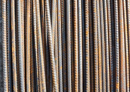 deformed: Steel deformed bar with rusty