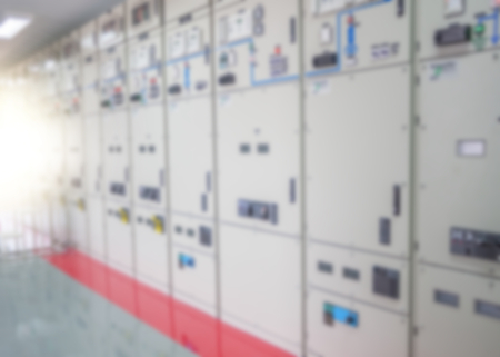switchgear: Electrical switchgear,Industrial electrical switch panel Stock Photo