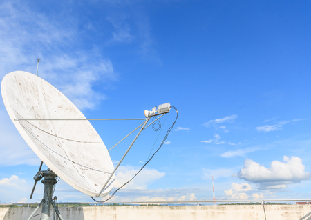 satellite dish on the top roof