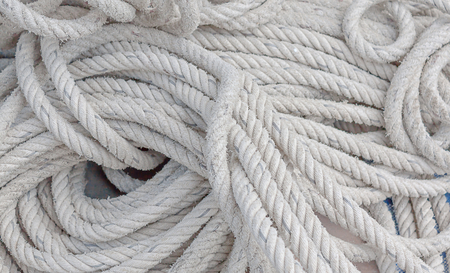 close-up white rope for clamber