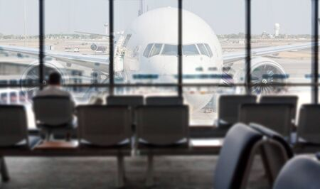 Airport blurred abstract background 免版税图像