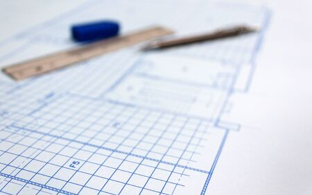 Blue print paper,Engineering design concept