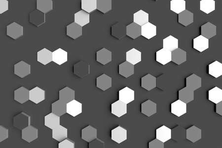 hexagonal 3d abstract background and template