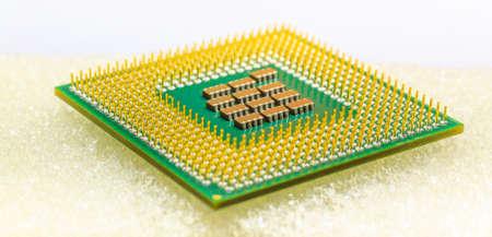 CPU chip closeup for background Foto de archivo