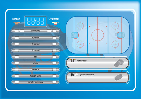 score board: Ice hockey field,game elements,icons,score board vector