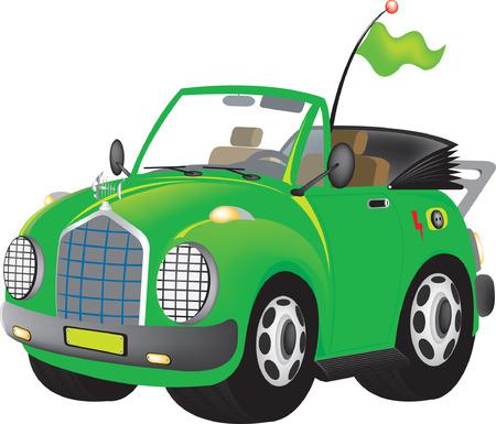 antena: green electric car