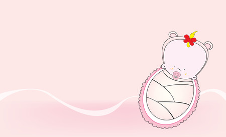 invitation card: invitation card for baby girl shower