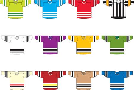 Ice hockey jerseys  Vector