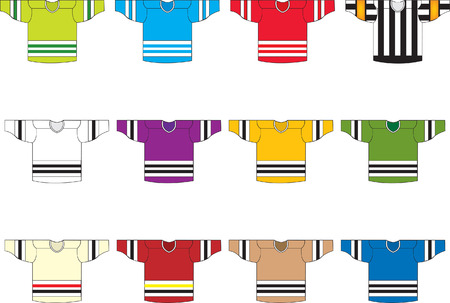 hockey players: Ice hockey jerseys  Illustration