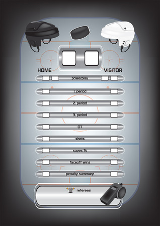 hockey rink: El hockey sobre hielo pista de patinaje, los elementos del juego, iconos, vector marcador