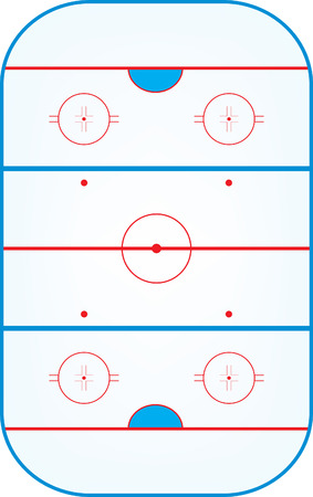 ice hockey rink,aerial view vector illustration Ilustracja