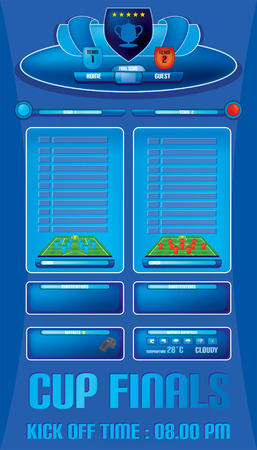 Game report info graphics for football soccer vector Vector