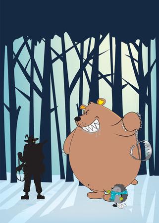 activism: Anti-caza, animal ambiente ilustraci�n, orientaci�n vertical