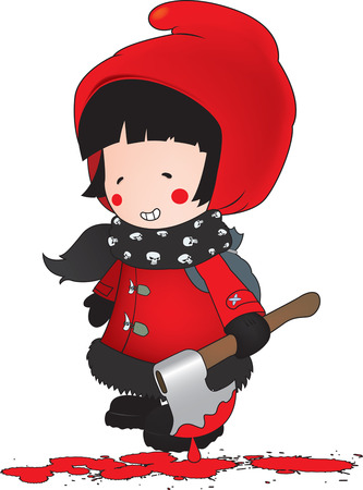 red riding hood: Little Red Riding Hood illustration.isolated on white Illustration