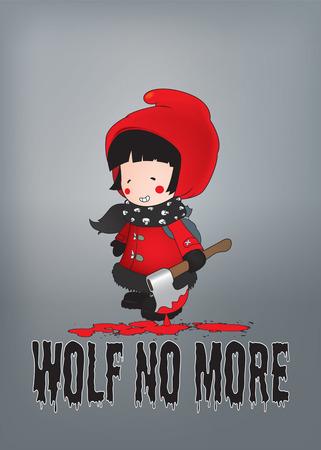 little red riding hood: Little Red Riding Hood illustration.Wolf pi�