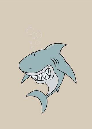 great white: happy looking great white shark
