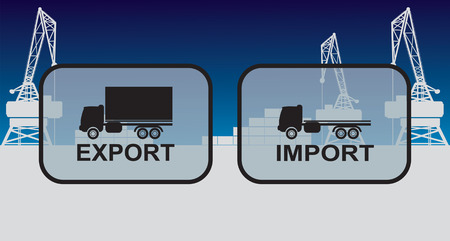 export import: Export import signs,symbols Illustration