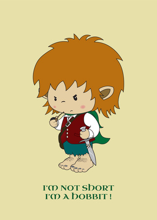 Im not short,Im a hobbit funny illustration