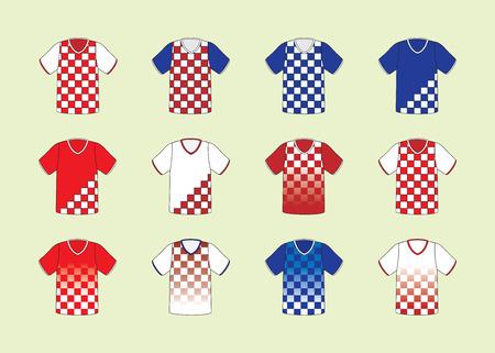 football jersey: Croatian football jersey set Illustration
